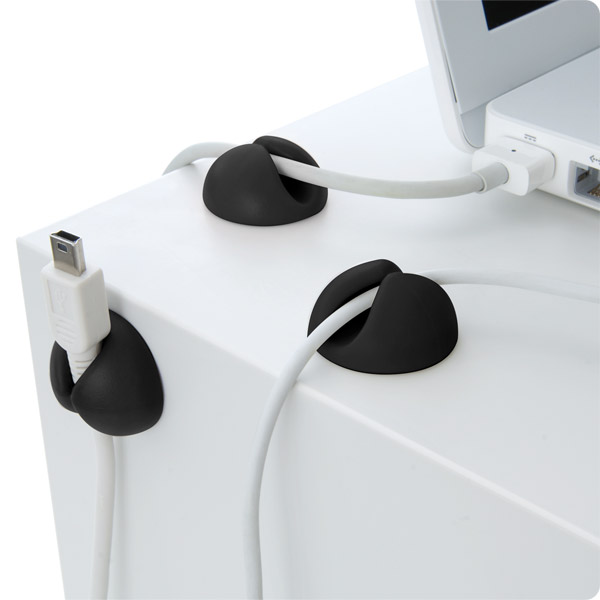 CableDrop: Holds power and data cables in place (Black)