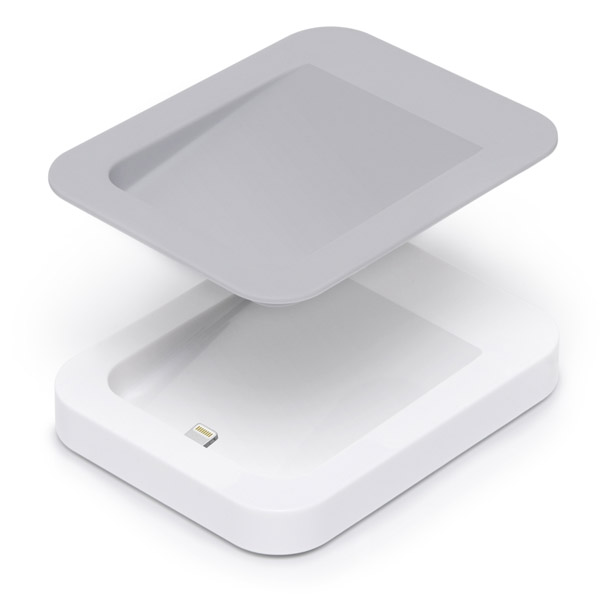 Lightning: Remove plate to use with a case (White)
